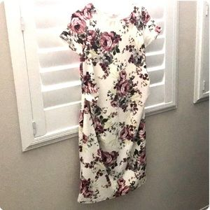 PinkBlush White Floral Maternitry Dress